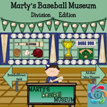 Martys Baseball Museum is an interactive game to help students practice division facts and provide teachers an opportunity to assess students in the process. Linked to Common Core Mathematics. Students also learn about Americas Greatest Past time, Baseball in the process.