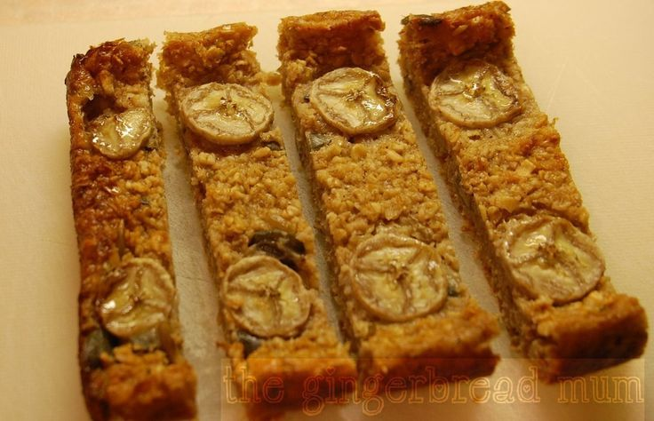 Baked porridge slice