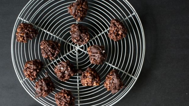 Ready to roll? You won't need  the oven to make these chocolate and peanut butter treats.