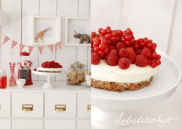 Liebesbotschaft: Berry cheesecake + more