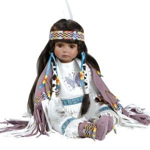 Native American Doll – Aponi  Porcelain Doll