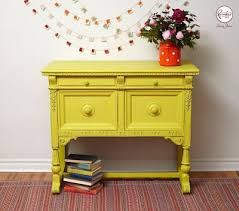Image result for annie sloan english yellow bedside table