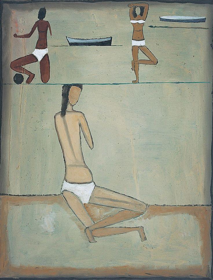 Jerzy Nowosielski Plaża | 1958, 65 × 50 cm, olej/płótno, Fundacja Nowosielskich