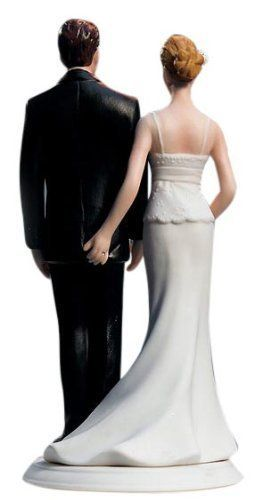 75 (Fun!) + Most Unique Wedding Cake Toppers | best cake toppers for weddings - funny love pinch cake topper