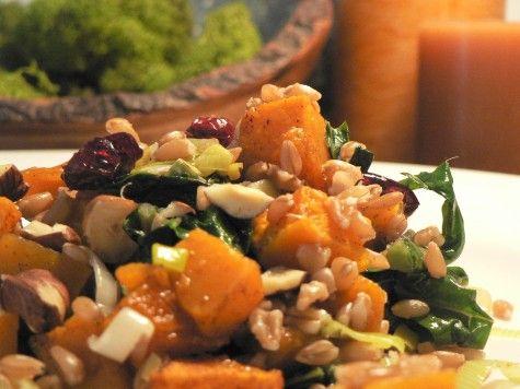 butternut squash , kale and farro salad | Food & Health | Pinterest