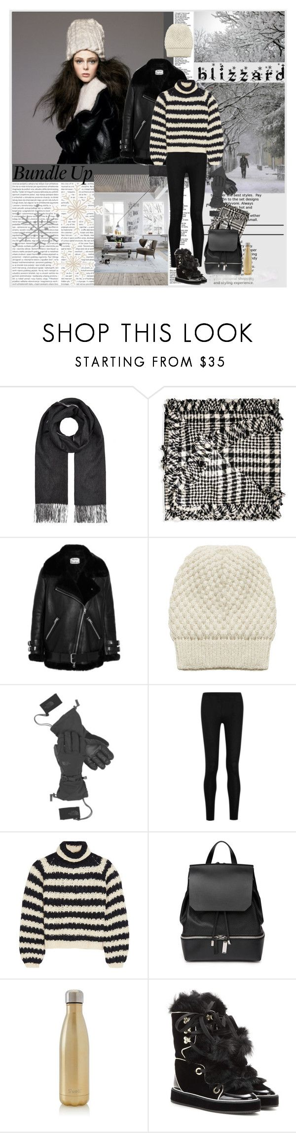 """""""Blizzard- Polyvore Contest"""" by shift ❤ liked on Polyvore featuring rag & bone, Simone Rocha, Acne Studios, Alice + Olivia, The North Face, Donna Karan, Chloé, COSTUME NATIONAL, S'well and Nicholas Kirkwood"""