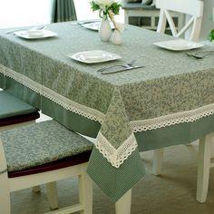 Estilo americano xadrez patchwork tecido de uma ocidental pano toalha de de jantar de café de pano