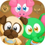 The animals are hungry, feed them with the right food! Be careful of the rotten fruits and don't make them sick. The more levels you accomplish, the more outfits will be available to dress up the animals!