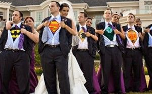 super hero theme wedding