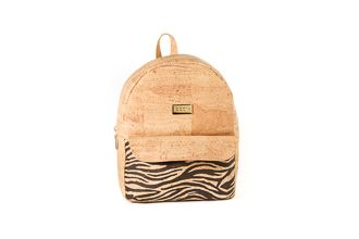 Cork Backpack SANTIAGO Natural Tiger