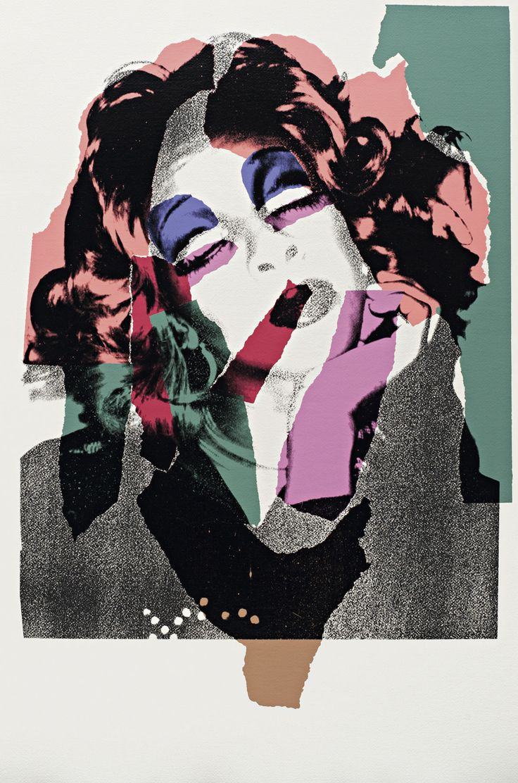 Andy Warhol - Ladies and Gentlemen FS II128 | The Ladies and Gentlemen series is comprised of portraits of cross-dressers from a New York City nightclub called, The Gilded Grape. Warhol took the cross-dressers' portrait with a Polaroid Big Shot camera and then transferred the image onto silk screen. This was the same process he used on celebrities and other famous figures.