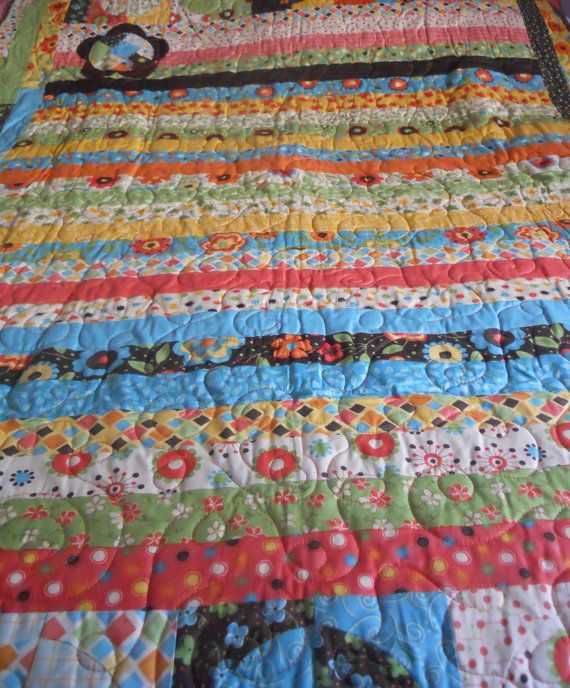An old fashioned beauty. . .flower garden quilt by QuiltsbyNona on Etsy, $225.00