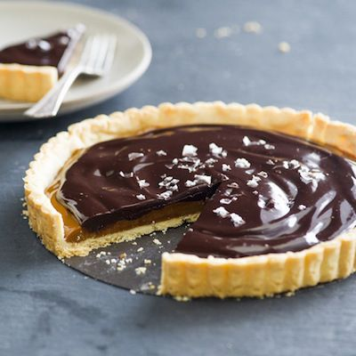 Salted Dulce de Leche Chocolate Tart Recipe
