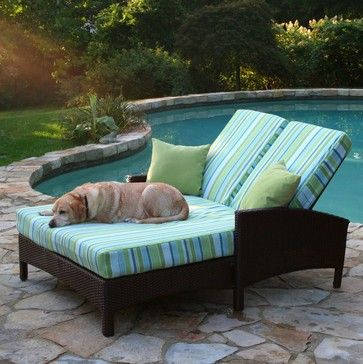 This is my dream writing spot!   double chaise lounge outdoor furniture - Google Search