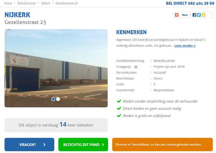Huurbieding actief geworden in Nijkerk. Bepaal geheel vrijblijvend uw eigen huurprijs van deze bedrijfsruimte en kom rechtstreeks in onderhandeling met de eigenaar.   http://www.huurbieding.nl/huur/bedrijfsruimte/1-00830/nijkerk/gezellenstraat-25.html  #bedrijfsruimte #bedrijfspand #tehuur #nijkerk #bieden #huurprijs #huurbieding #ondernemers #gezocht #mkb #transport #logistiek #deelverhuur #nederland #gelderland