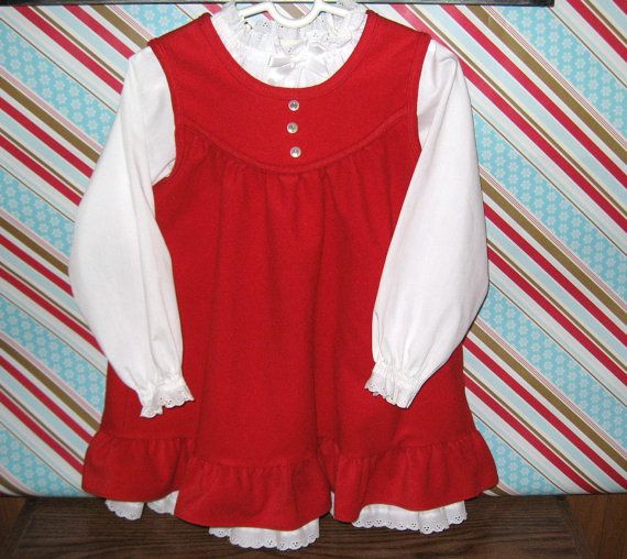 Vintage Red Dress  1980 Red Dress/Jumper  Vintage by SugarBearHair, $25.00  etsy.com/shop/sugarbearhair