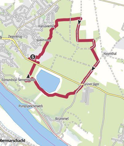 Karte / Kleine Rundtour vom Friedhof Geesthacht aus
