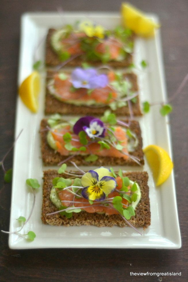 Nordic Open Faced Smoked Salmon Sandwiches 6
