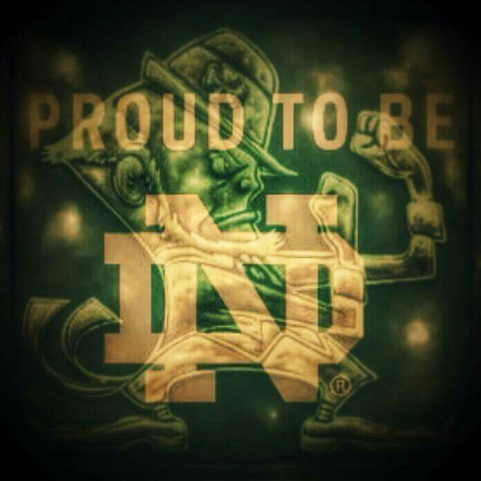 Proud to be ND. Notre Dame Fighting Irish. Go Irish. University of Notre Dame.