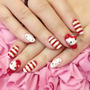 26 best hello kitty nail designs images on pinterest hello kitty hello kitty nail designs prinsesfo Choice Image