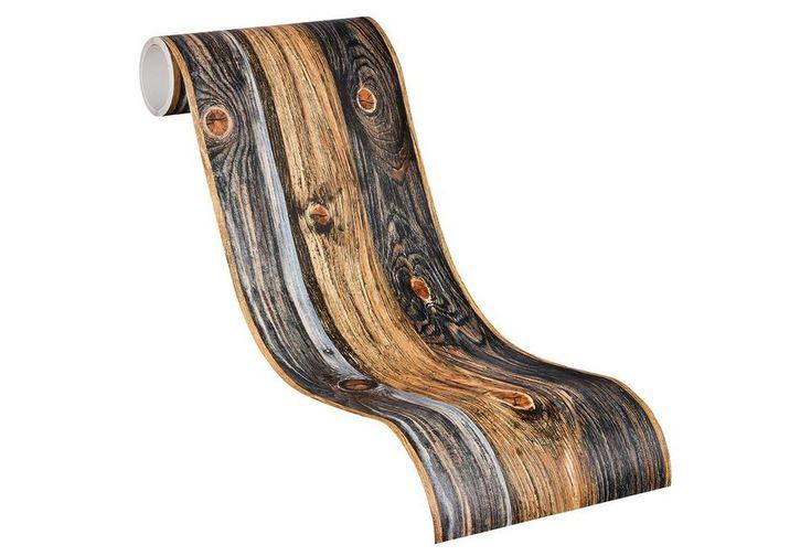 Selbstklebende Bordüre, Livingwalls, »Holz«