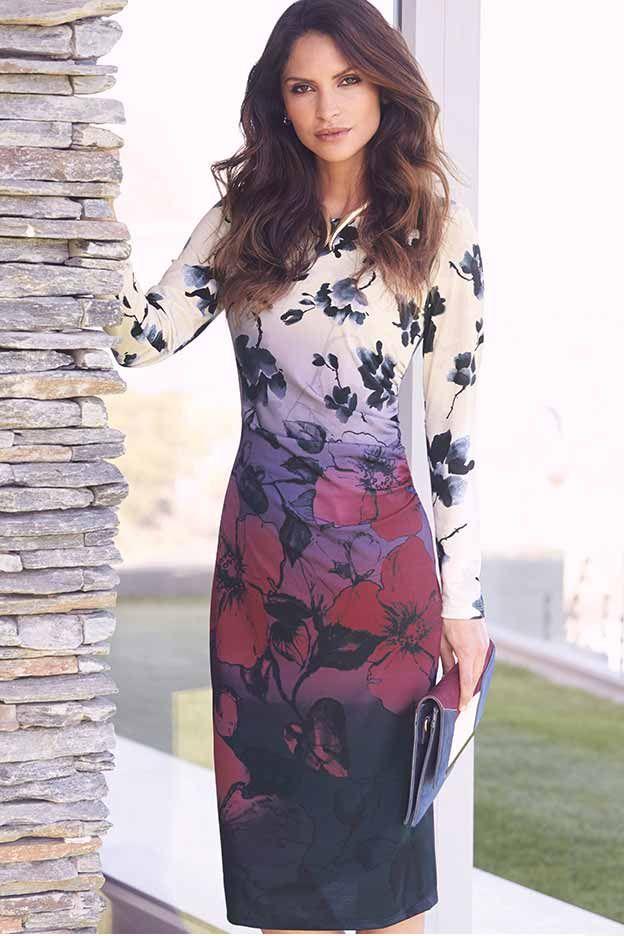 Shadow Rose Wrap Dress #kaleidoscope #trend