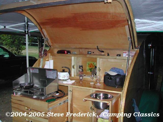 17 best ideas about teardrop trailer interior on pinterest for Camper trailer kitchen designs