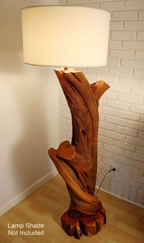 Vintage handcrafted modern driftwood lamp.