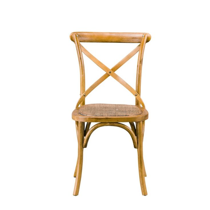 Provincial Cross Back Chair Honey
