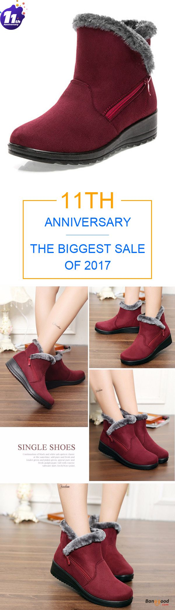 Promotion Price: US$24.75 + Free shipping. Fall in love with casual and warm style! New Large Size Women Winter Boots Round Toe Ankle Short Snow Boots.