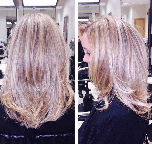 Platinum Blonde Balayage Hair Color Idea: 17 Best Images About Purple Lowlights For Grey Hair On