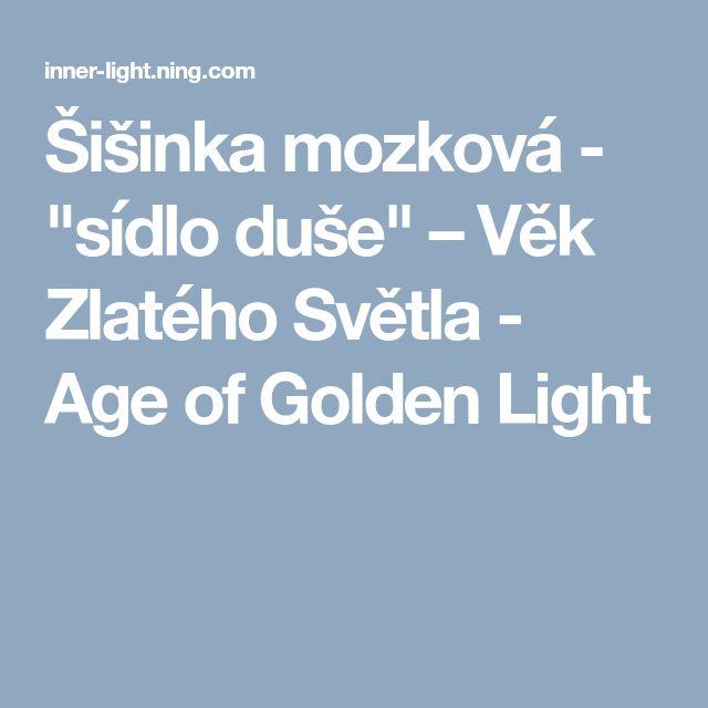 """Šišinka mozková - """"sídlo duše"""" – Věk Zlatého Světla - Age of Golden Light"""