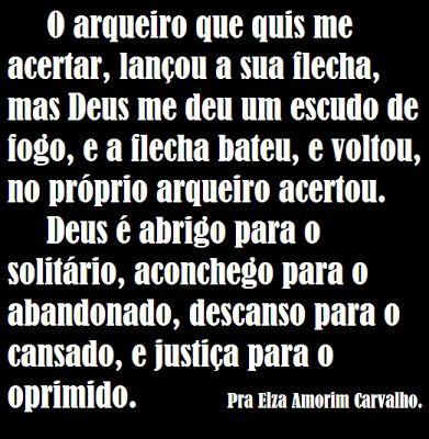 Pra. Elza Amorim Carvalho: Oh Deus Tremendo