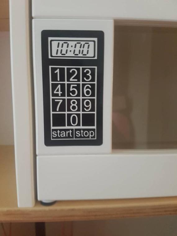 Spielzeug Spielen Kuche Microwave Vinyl Aufkleber Aufkleber Etsy Microwave In Kitchen Ikea Play Kitchen Play Kitchen
