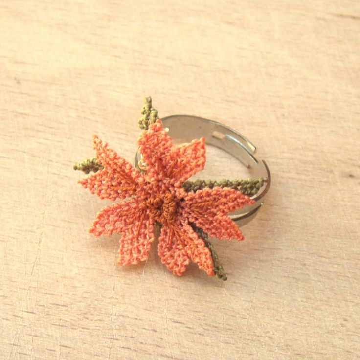 Turkish OYA Lace - Ring - Cosmos *2 colors by DaisyCappadocia on Etsy