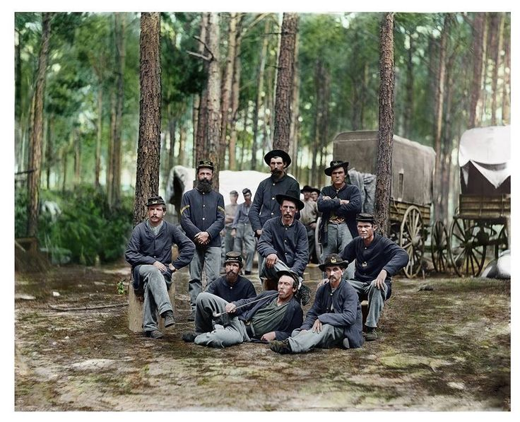 Union engineers at the siege of Petersburg, August 1864.