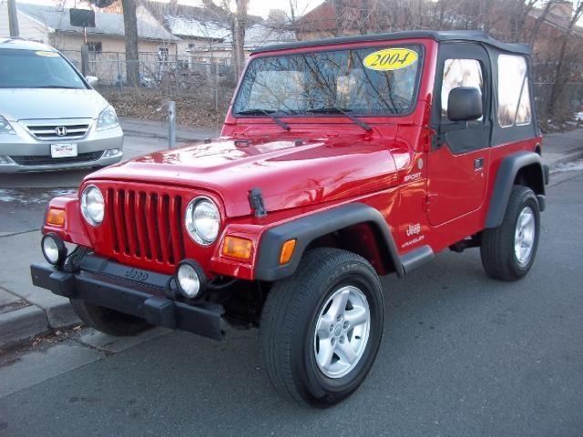 2004 jeep wrangler tj sport sport suv 2 doors red for sale in denver co http www
