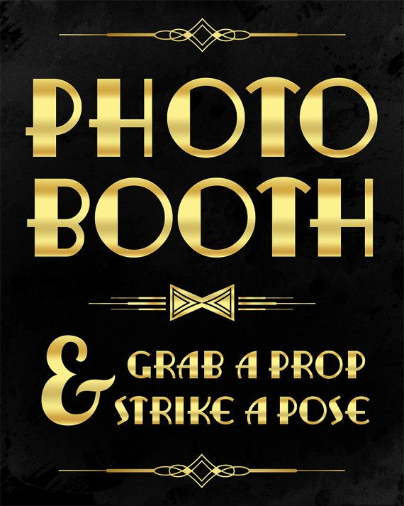 Photobooth sign: grab a prop and strike a pose. by PartyGraphix