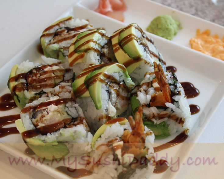 Shrimp Tempura Sushi Roll with cream cheese