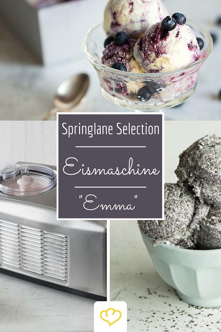 """Mit der Eismaschine """"Emma"""" aus unserer Springlane Selection wird ein Traum von der eigenen Gelateria zuhause wahr! Ob klassisches Erbeer-, Vanille, oder Schokoladeneis, oder eine ganz neue, wilde Sorte - mit einer Eismaschine ist alles möglich!"""
