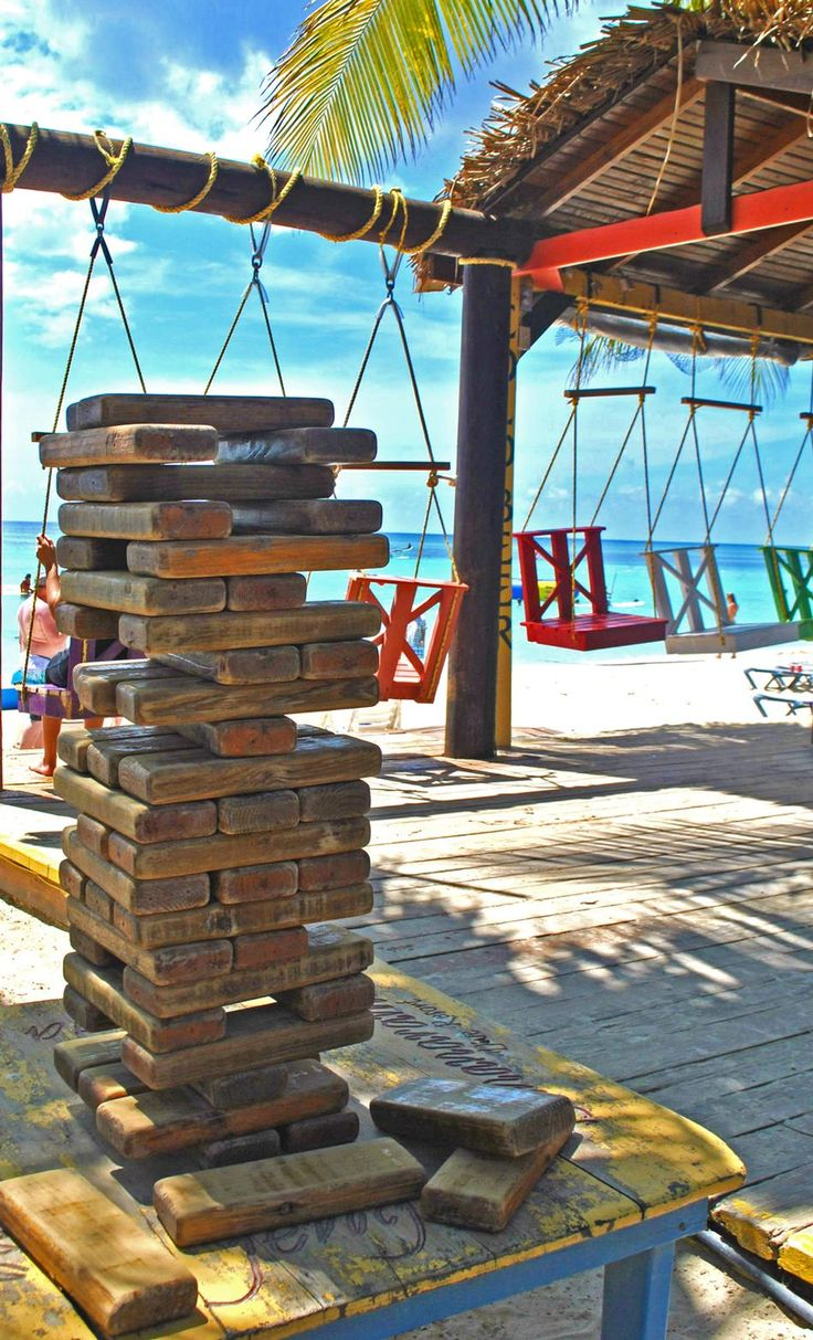 Bar at our hotel!  Can't wait!  Beach bar at Bananarama, Roatan