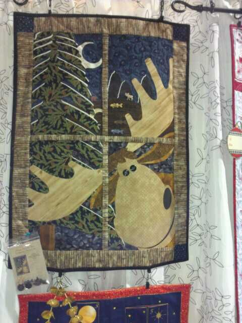 Northwoods Window Pane Quilt Pattern Moose T