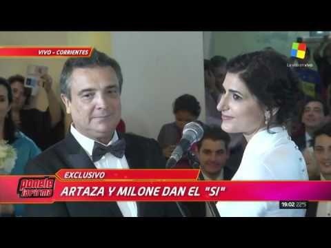América mostró el emotivo casamiento entre Cecilia Milone y Nito Artaza