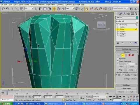 3d max tap modeling tutorial part 2 - YouTube