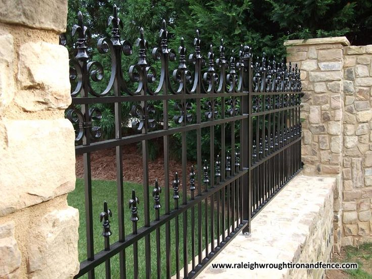 Raleigh Wrought Iron and Fence Co. Custom Wrought Iron Fence in Raleigh NC, Durham, Chapel Hill