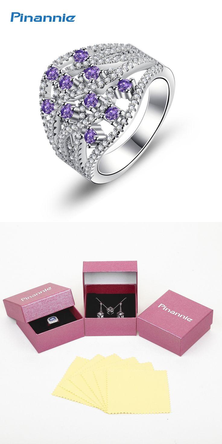 Pinannie Genuine 925 Sterling Silver Anillos Joyas de plata 925 Rings Jewelry for Women