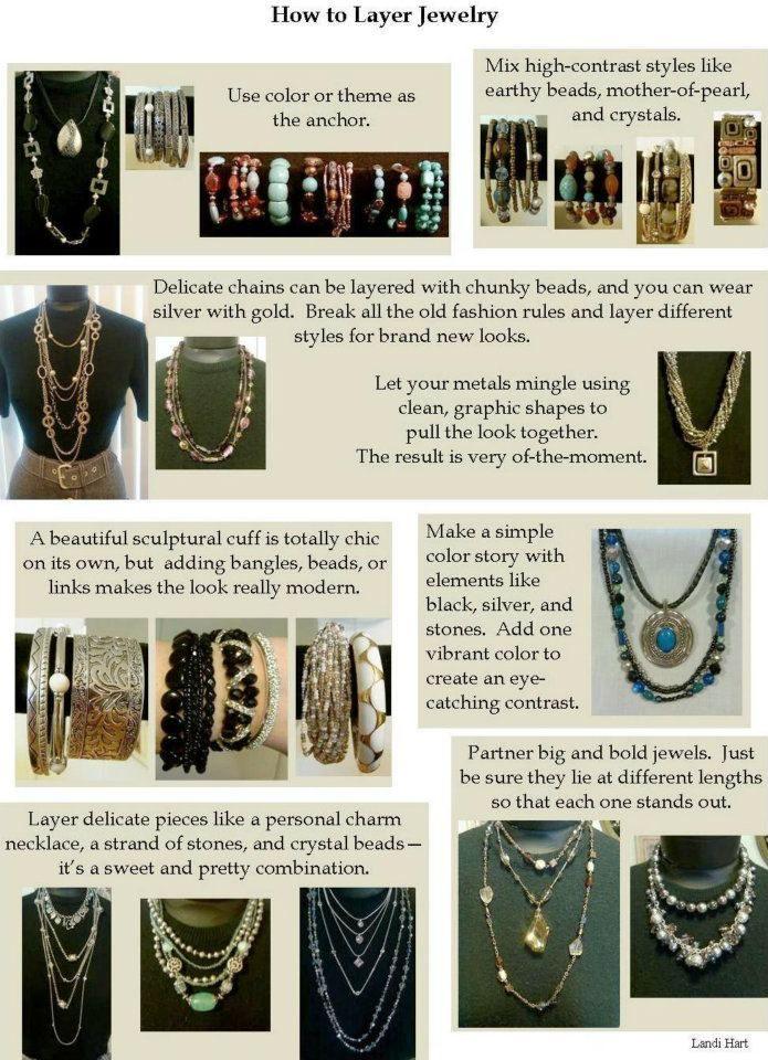 Fashion Tip--layering jewelry