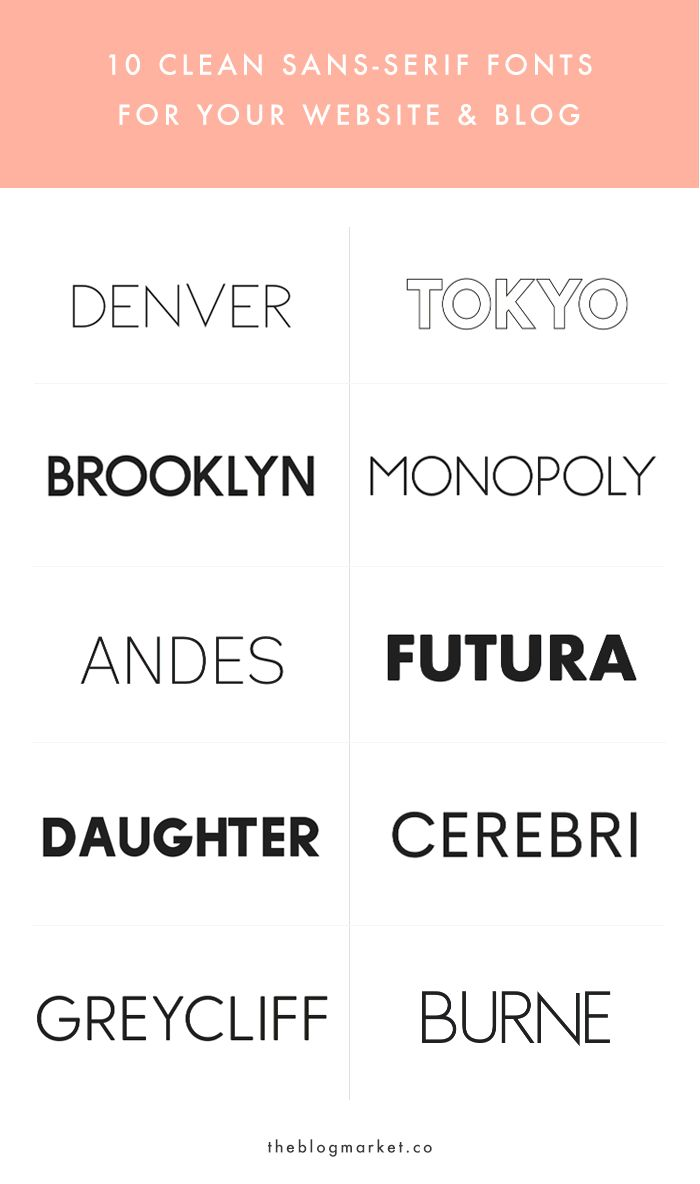 10 Crisp & Clean Sans-Serif Fonts For Your Blog - The Blog Market