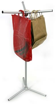 Quick & easy way to display bags at your next event!  Collapsible, comes with nylon bag for easy storage. $67.50