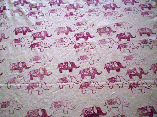 Tamptation block print on fabric